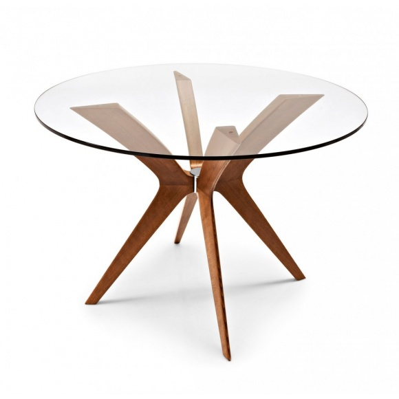 Round Coffee Tables Toronto: Calligaris Tokyo Round Glass Top Dining Table